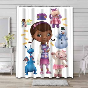Doc McStuffins Shower Curtain Waterproof Polyester