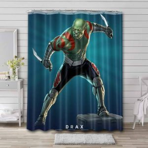 Drax the Destroyer Marvel Shower Curtain Waterproof Polyester
