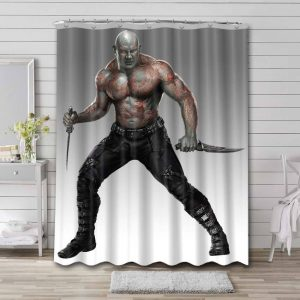 Drax Guardian Of The Galaxy Shower Curtain Waterproof Polyester