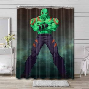Drax the Destroyer Shower Curtain Bathroom Decoration Waterproof Polyester Fabric.