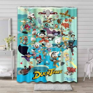 DuckTales Characters Shower Curtain Bathroom Decoration