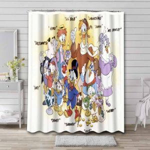 DuckTales Characters Shower Curtain Waterproof Polyester
