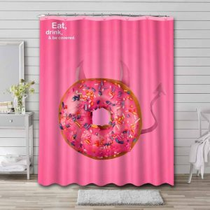 Dunkin' Donuts Shower Curtain Waterproof Polyester