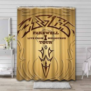 Eagles Band Farewell Shower Curtain Waterproof Polyester