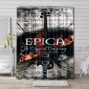 Epica Shower Curtain Bathroom Decoration Waterproof Polyester Fabric.