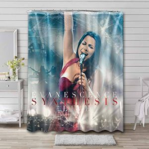 Evanescence Synthesis Waterproof Curtain Bathroom Shower
