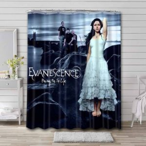 Evanescence Bring Me To Life Bathroom Shower Curtain Waterproof