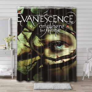 Evanescence Anywhere But Home Bathroom Shower Curtain Waterproof