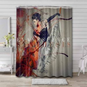 Evanescence Synthesis Cover Waterproof Shower Curtain Bathroom
