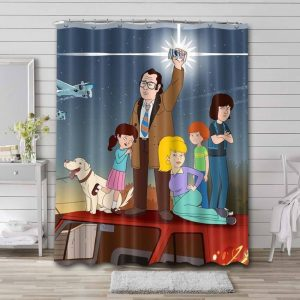F Is for Family Shower Curtain Bathroom Waterproof