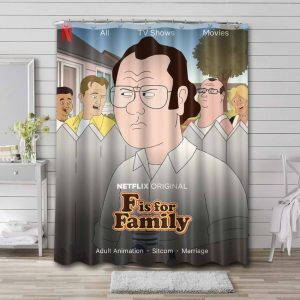 F Is for Family Shower Curtain Waterproof Polyester