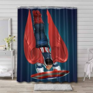 Falcon Captain America Shower Curtain Waterproof Polyester