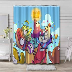 Fall Guys: Ultimate Knockout Bathroom Curtain Shower Waterproof
