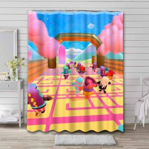 Fall Guys: Ultimate Knockout Game Shower Curtain Bathroom Waterproof