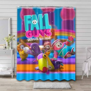 Fall Guys: Ultimate Knockout Game Shower Curtain Bathroom Decoration