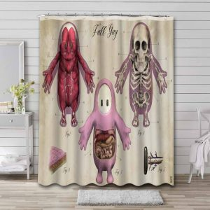 Fall Guys: Ultimate Knockout Game Shower Curtain Waterproof Polyester