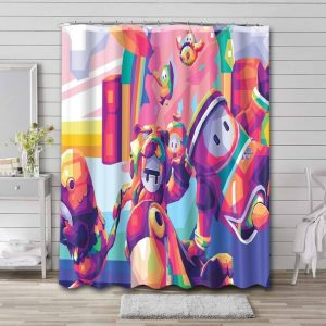 Fall Guys: Ultimate Knockout Game Bathroom Shower Curtain Waterproof