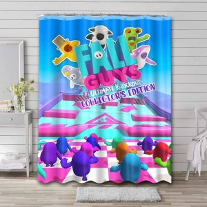 Fall Guys: Ultimate Knockout Mobile Waterproof Shower Curtain Bathroom