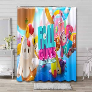 Fall Guys: Ultimate Knockout Mobile Waterproof Bathroom Shower Curtain