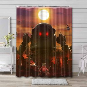 Fall Guys: Ultimate Knockout Mobile Bathroom Curtain Shower Waterproof