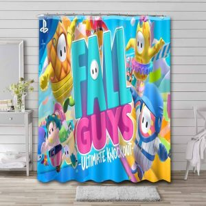 Fall Guys: Ultimate Knockout Waterproof Curtain Bathroom Shower