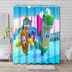 Fall Guys: Ultimate Knockout Shower Curtain Bathroom Decoration