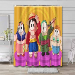 Fall Guys: Ultimate Knockout Characters Bathroom Shower Curtain Waterproof