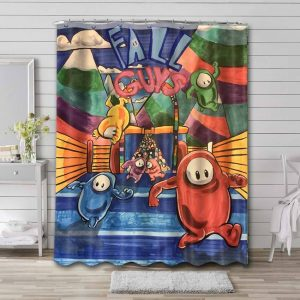 Fall Guys: Ultimate Knockout Waterproof Shower Curtain Bathroom