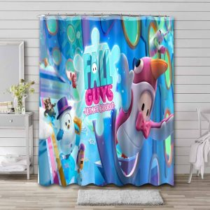 Fall Guys: Ultimate Knockout Phone Shower Curtain Bathroom Decoration