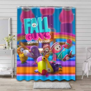 Fall Guys: Ultimate Knockout Shower Curtain Waterproof Polyester