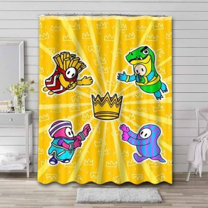 Fall Guys: Ultimate Knockout Waterproof Bathroom Shower Curtain