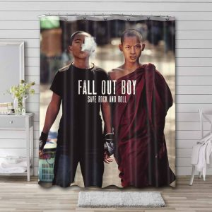 Fall Out Boy Save Rock And Roll Waterproof Shower Curtain Bathroom