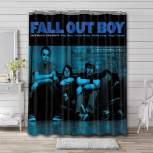 Fall Out Boy Take This To Your Grave Shower Curtain Bathroom Decoration