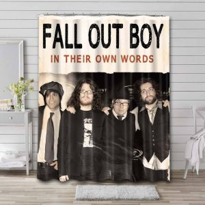 Fall Out Boy In Their Own Words Shower Curtain Waterproof Polyester
