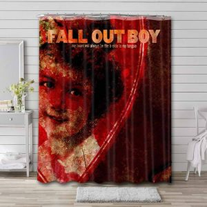 Fall Out Boy My Heart Is The Worst Kind Of Weapon Waterproof Bathroom Shower Curtain