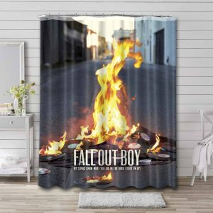 Fall Out Boy My Songs Know What You Did in the Dark Bathroom Curtain Shower Waterproof