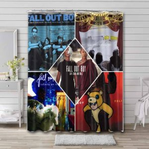 Fall Out Boy Albums Shower Curtain Bathroom Waterproof