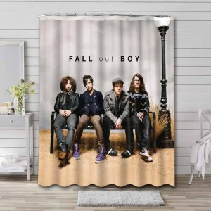 Fall Out Boy Rock Band Shower Curtain Waterproof Polyester