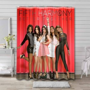 Fifth Harmony Better Together Bathroom Curtain Shower Waterproof