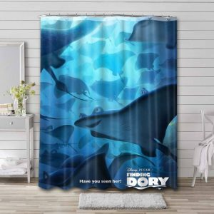 Finding Dory Movie Shower Curtain Bathroom Decoration