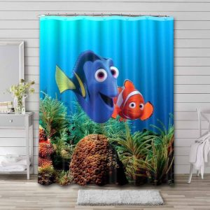 Finding Dory Shower Curtain Bathroom Decoration