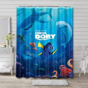 Finding Dory Shower Curtain Waterproof Polyester