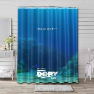 Finding Dory Shower Curtain Bathroom Decoration Waterproof Polyester Fabric.