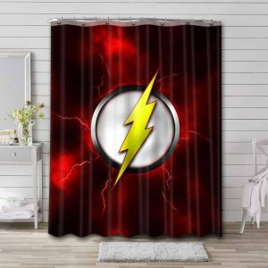 The Flash Symbol Shower Curtain Waterproof Polyester