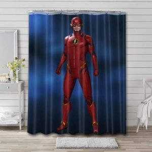 The Flash Justice League Shower Curtain Waterproof Polyester