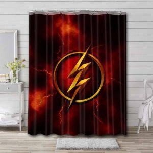 The Flash Logo Shower Curtain Waterproof Polyester