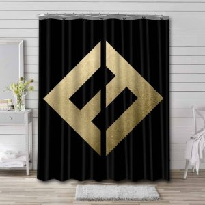 Foo Fighters Concrete and Gold Waterproof Bathroom Shower Curtain