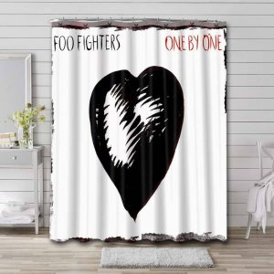 Foo Fighters One by One Shower Curtain Waterproof Polyester