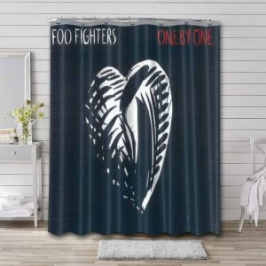 Foo Fighters One by One Album Shower Curtain Waterproof Polyester