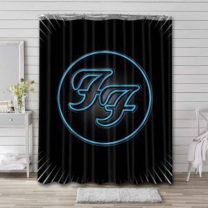 Foo Fighters Shower Curtain Waterproof Polyester